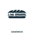 sandwich icon mobile apps printing and more vector image vector image