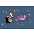 Santa and his sleigh flying vector image vector image
