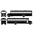 school bus black icons vector image
