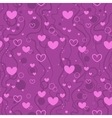 Seamless background with hearts and bubbles in vector image vector image