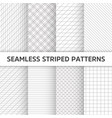 seamless striped patterns white and grey vector image vector image
