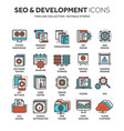 seo and app development search engine vector image vector image