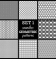SET 1 Seamless geometric patterns vector image