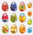 Set of paper Easter eggs vector image
