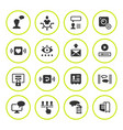 set round icons of social network vector image vector image