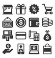 shopping icon set on white background vector image