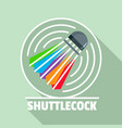 shuttlecock logo flat style vector image vector image