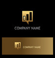 square business talk communication gold logo vector image vector image