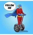 Superhero ride on electric transport vector image vector image