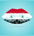 syria flag lipstick on the lips isolated on a vector image vector image