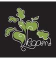 Text Vegan in style monoline vector image