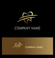 tooth dentist gold logo vector image