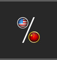 trade war usa and china political and vector image