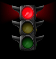 Traffic light with red on vector image vector image