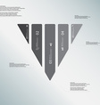 triangle template consists five grey parts on vector image vector image