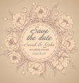 Vintage elegant wedding invitation or card Save vector image