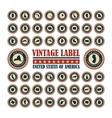 Vintage label USA set vector image