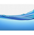 water surface close up with waves and splashes vector image vector image