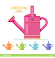 watering can garden icon flat design colorful vector image vector image