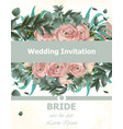 wedding invitation peonies bouquet vintage vector image vector image