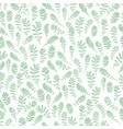 wild leaves seamless floral endless pattern vector image vector image