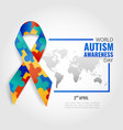 world autism awareness day vector image vector image