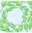 Circular frame of green branches and leaves vector image