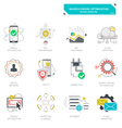 Seo internet marketing icons modern flat design vector image