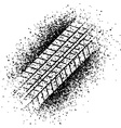 spray trace of the tyre vector image