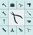 tools icons set with multi tool electric vector image