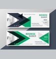 abstract geometric triangle business banner vector image