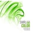 Abstract green swirl background vector image vector image