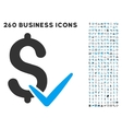 Accept Money Icon with Flat Set vector image vector image