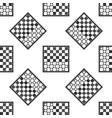 board game of checkers icon seamless pattern vector image vector image