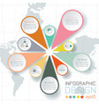 business labels infographic on world map vector image vector image