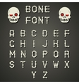 Cartoon Bone Alphabet A to Z Flat Design Font vector image