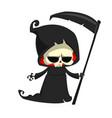 cartoon of grim reaper vector image vector image