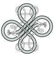 celtic knot patterns with snakes vector image vector image