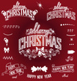 Christmas and New Year titles and design elements vector image vector image