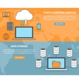 Cloud computing services vector image vector image