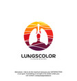 colorful lungs logo health lungs logo template vector image vector image
