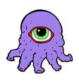 comic cartoon alien head vector image
