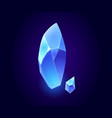 crystal gem blue magic gemstones isolated icons vector image vector image