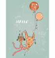 cute cartoon flying giraffe vector image vector image