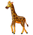 cute giraffe cartoon vector image vector image