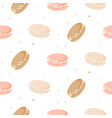cute pattern with macaroon cookies vector image