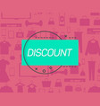 discount logo on pattern with goods vector image