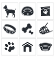 Doggy icon collection vector image vector image