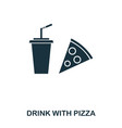 drink with pizza icon mobile apps printing and vector image vector image