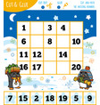 education numbers game for children winter theme vector image vector image